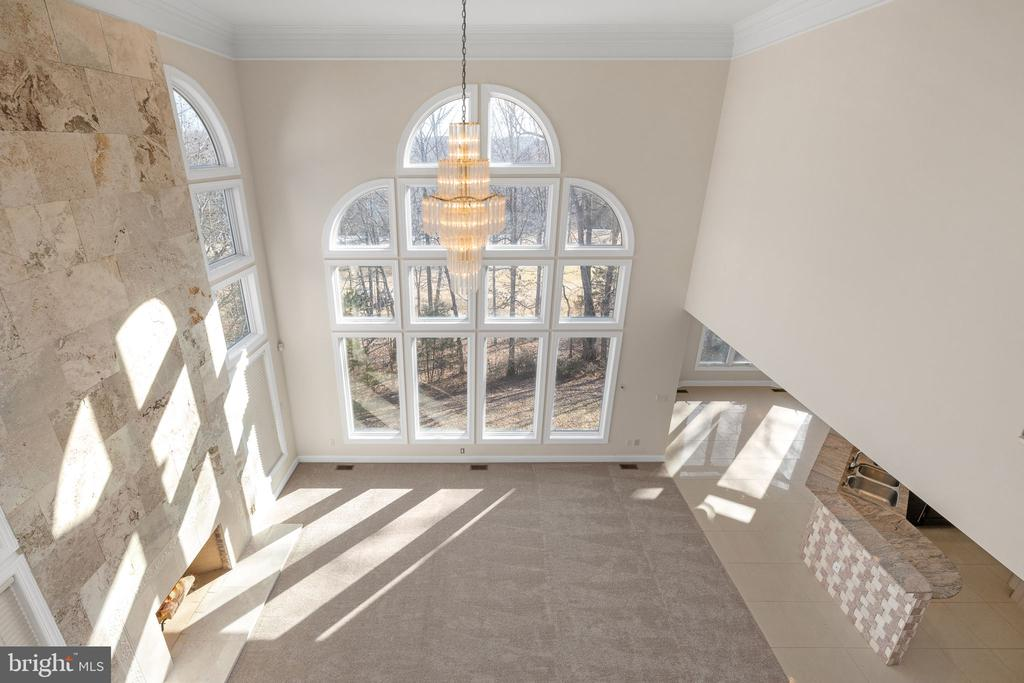 View to Family Room from Upper Level - 3714 FAIRWAYS CT, FREDERICKSBURG