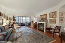 Living Room with gas fireplace - 19360 MAGNOLIA GROVE SQ #305, LEESBURG