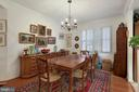 Dining Room with custom shutters - 19360 MAGNOLIA GROVE SQ #305, LEESBURG