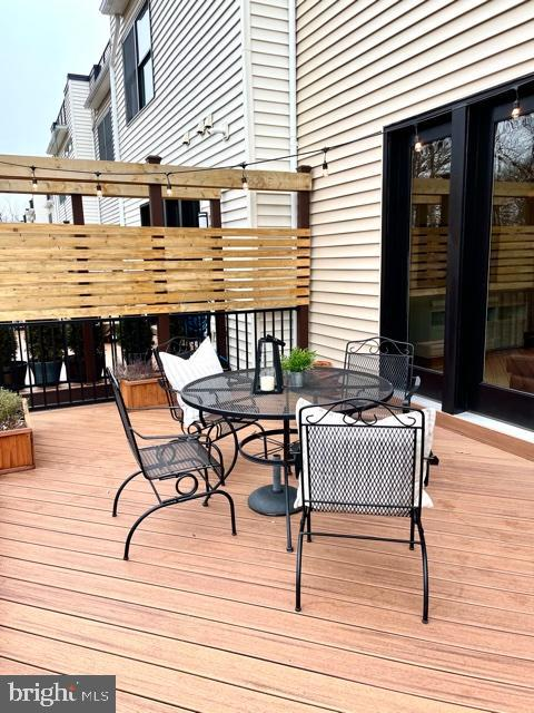 Trex Deck w/Privacy Screens - 42502 MILDRED LANDING SQ, ASHBURN