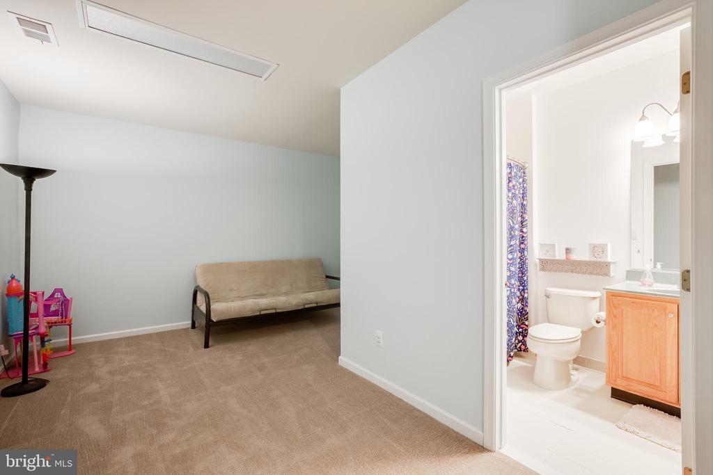 Basement- Guest area/Bathroom combo - 903 CRESTVIEW TER, WINCHESTER