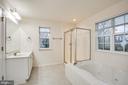 Separate soaking tub and shower. - 1002 JONS PL, FREDERICKSBURG