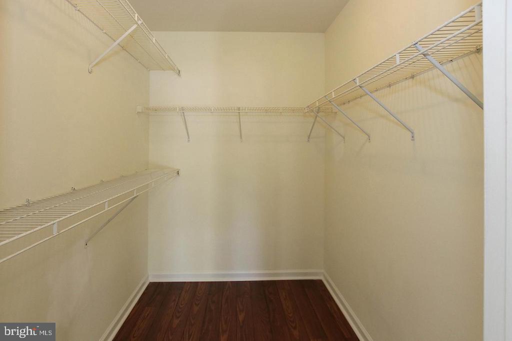 Primary Bedroom closet pic taken prior to tenants - 20290 BEECHWOOD TER #100, ASHBURN