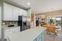 Spacious Kitchen with Island - 18279 MAPLE SPRING CT, LEESBURG