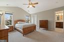 Large Primary Bedroom with Cathedral Ceilings - 18279 MAPLE SPRING CT, LEESBURG