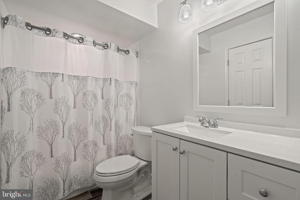 Lower Level Renovated Full Bathroom - 18279 MAPLE SPRING CT, LEESBURG