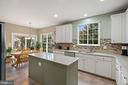 Large Kitchen with Eat-In / Breakfast Room - 18279 MAPLE SPRING CT, LEESBURG