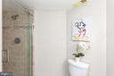 Remodeled hallway full bath with standup shower. - 2100 LEE HWY #G09, ARLINGTON