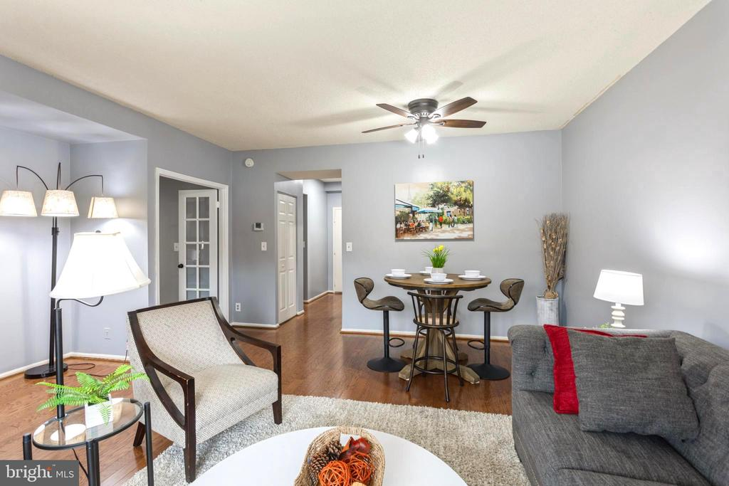 View into your living/dining area from patio. - 2100 LEE HWY #G09, ARLINGTON