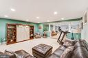 Lower level recreation room with surround sound - 20277 DAWSON MILL PL, LEESBURG