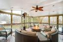 Enclosed porch with ceiling fan - 20277 DAWSON MILL PL, LEESBURG