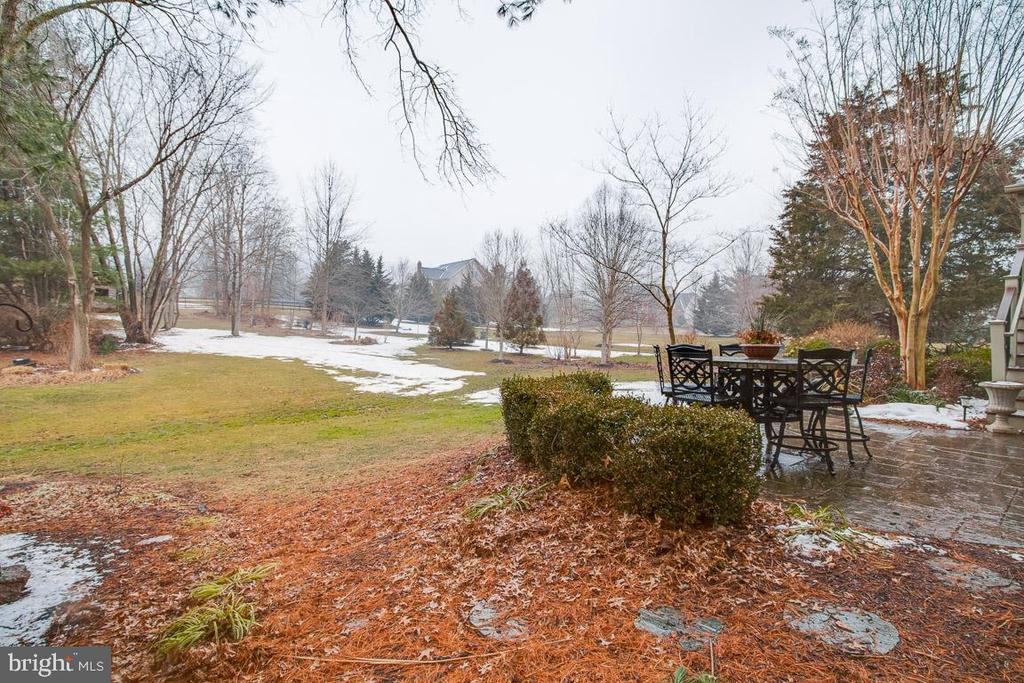 Alt view of flat backyard with room for a pool - 20277 DAWSON MILL PL, LEESBURG