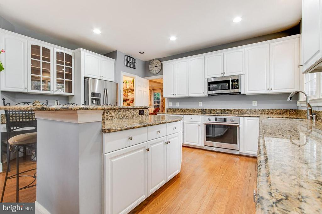 Alt view of stunning upgraded kitchen - 20277 DAWSON MILL PL, LEESBURG