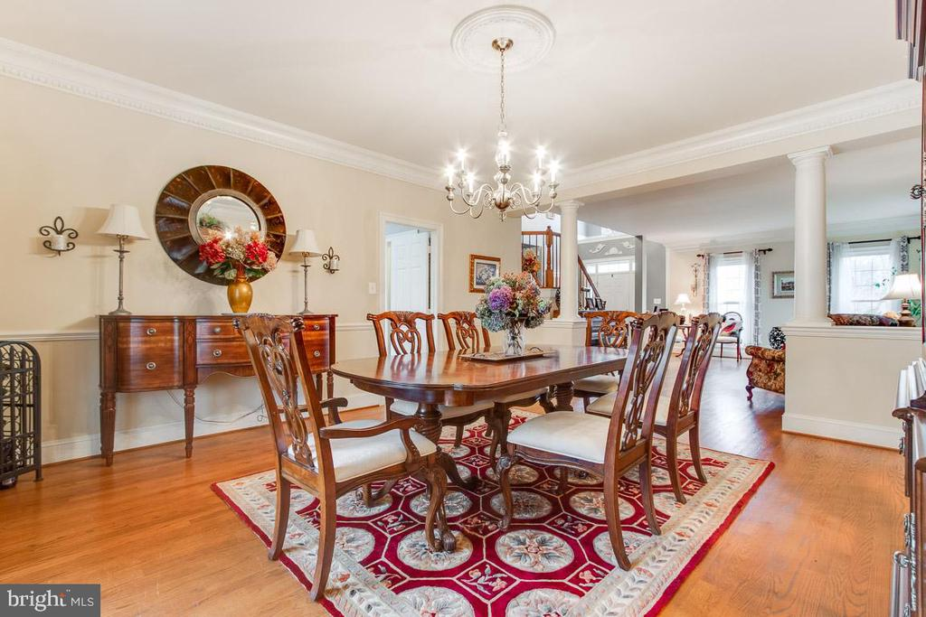 Stunning dining room for entertaining! - 20277 DAWSON MILL PL, LEESBURG