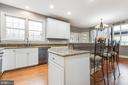 Kitchen with granite counters and SS appliances - 20277 DAWSON MILL PL, LEESBURG