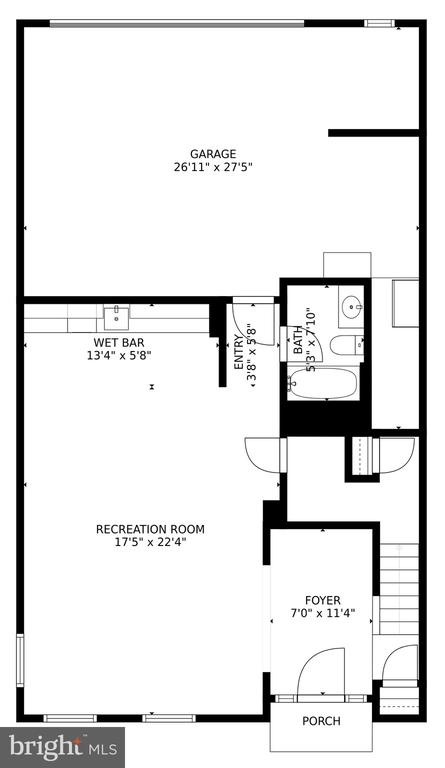 Lower Level Floorplan - 24955 EARLSFORD DRIVE, CHANTILLY