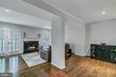 View into living room - 2913-B S WOODSTOCK ST #2, ARLINGTON