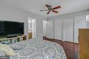 Primary bedroom with lots of closet space - 2913-B S WOODSTOCK ST #2, ARLINGTON
