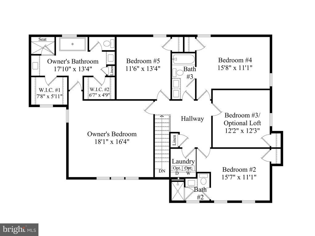 Upper Level Floor Plan - 6604 ACCIPITER DR, NEW MARKET
