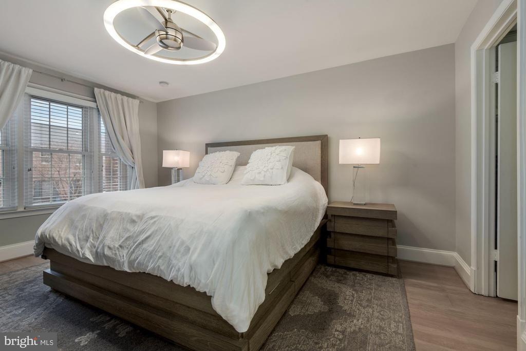 Primary Bedroom - New Premium Wide Plank Hardwoods - 1610 BELMONT ST NW #D, WASHINGTON