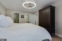 Primary Bedrm - New Modern Ceiling Fan/Light Combo - 1610 BELMONT ST NW #D, WASHINGTON