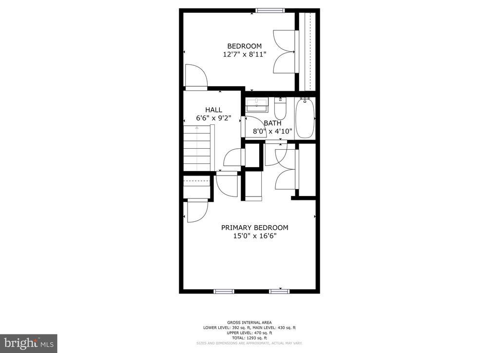 Upper level - bedroom level - 2810 S MEADE ST, ARLINGTON
