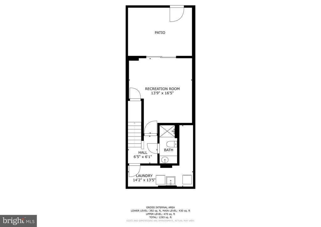Lower level floorplan - 2810 S MEADE ST, ARLINGTON