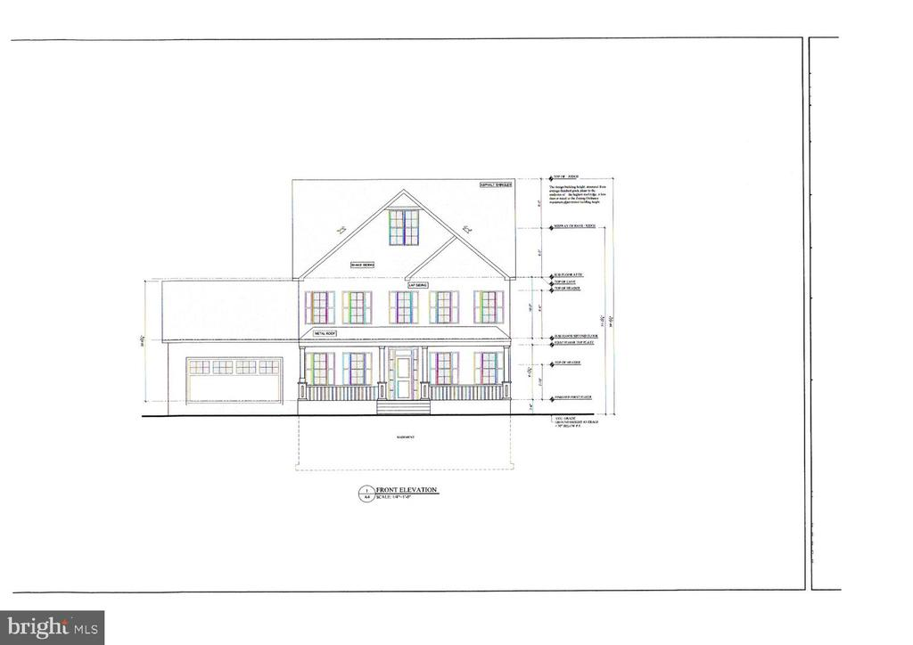 Front Elevation of home - 8620 OX RD, FAIRFAX STATION