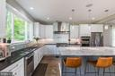 Large kitchen- plenty of counter and cabinetry - 8620 OX RD, FAIRFAX STATION