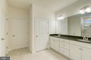 dual vanity in master bath - 103 OLD OAKS CT, STAFFORD