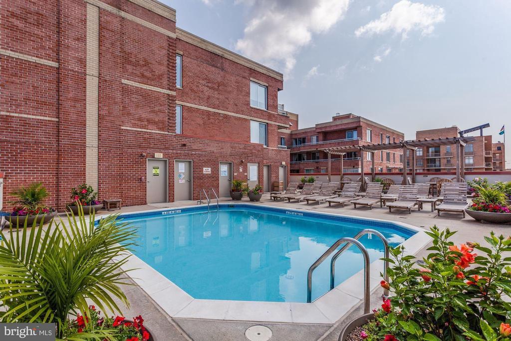 Rooftop Pool - 1020 N HIGHLAND ST #215, ARLINGTON