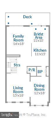 Main level floorplan - 43111 CLARENDON SQ, ASHBURN
