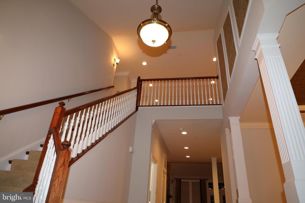 Entry foyer, looking upward - 3705 GLEN EAGLES DR, SILVER SPRING