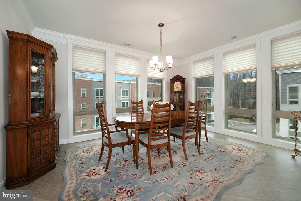 Truly a Separate Dining Rm! Hello Walls of Windows - 6107 FAIRVIEW FARM DR #403, ALEXANDRIA