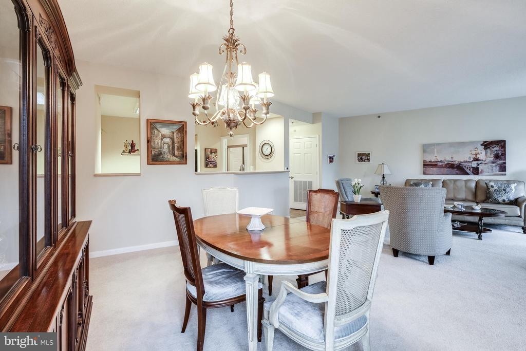 Plenty of space for formal dining - 3100 N LEISURE WORLD BLVD #203, SILVER SPRING