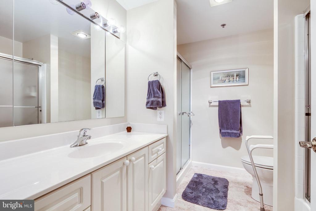 Owners bath with 2 showers - 3100 N LEISURE WORLD BLVD #203, SILVER SPRING