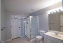 Basement full bath - 1110 HEARTHSTONE DR, FREDERICKSBURG