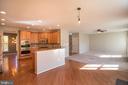 Plenty of kitchen table space! - 1110 HEARTHSTONE DR, FREDERICKSBURG