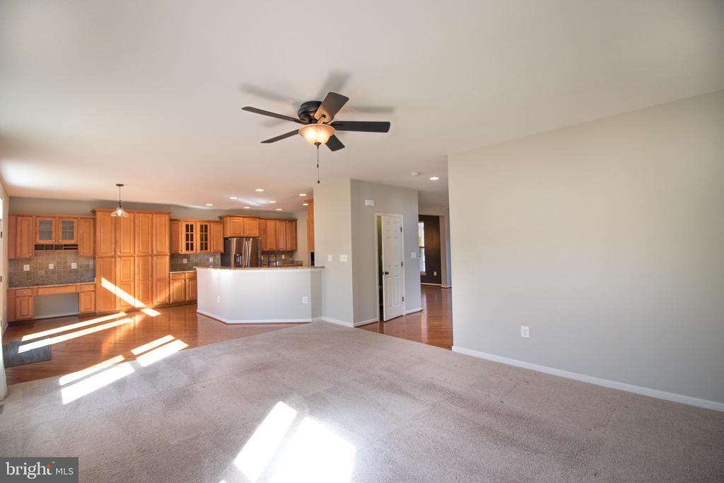 Open floor plan and check out all the kitchen cabi - 1110 HEARTHSTONE DR, FREDERICKSBURG