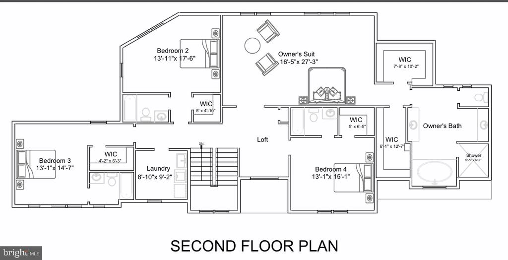 Second Floor Plan - 713 KINGSLEY RD SW, VIENNA