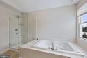 New Frameless Glass Shower Surround & Door in MBR - 20004 HAZELTINE PL, ASHBURN