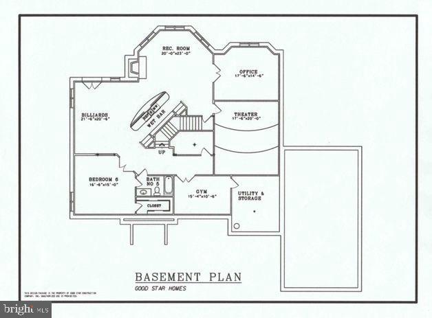 Oakwood's Lower Level Floor Plan. - 10603 VALE RD, OAKTON