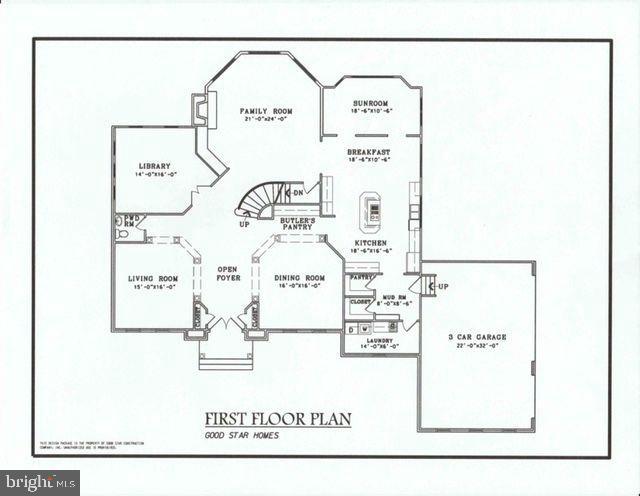 Oakwood's Main Level Floor Plan. - 10603 VALE RD, OAKTON