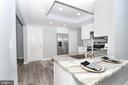 Kitchen opens upto dining space - 219 W MEADOWLAND LN, STERLING