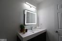 Luxurious Master bathroom  with LED mirrors - 219 W MEADOWLAND LN, STERLING