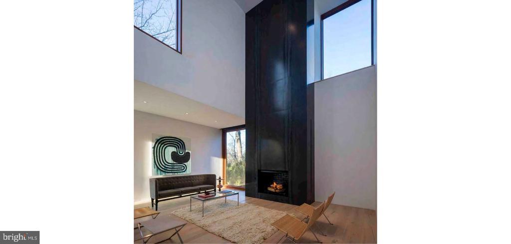Two-Story Living Room - 3131 CHAIN BRIDGE RD NW, WASHINGTON