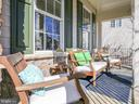 Lovely covered front porch - 43094 ROCKY RIDGE CT, LEESBURG