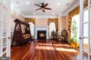 Study with Fireplace - 6500 BRIARCROFT ST, CLIFTON