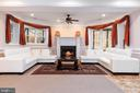 Lower Level Family Room with Fireplace - 6500 BRIARCROFT ST, CLIFTON