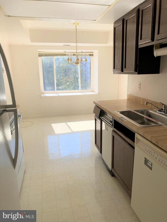 Kitchen and Breakfast Area with a view - 10222 BUSHMAN DR #8123, OAKTON
